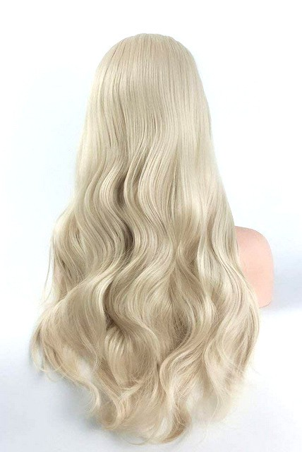 Lace front parykk - Syntetisk - Golden blonde