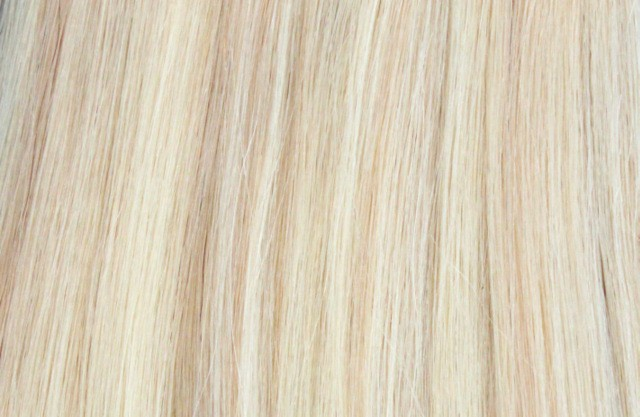 Clip on extensions 55 cm - Europeisk hår - Highlights #18/#613